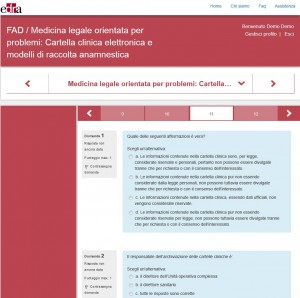 FAD Medicina Legale Cartella Clinica - quiz apprendimento